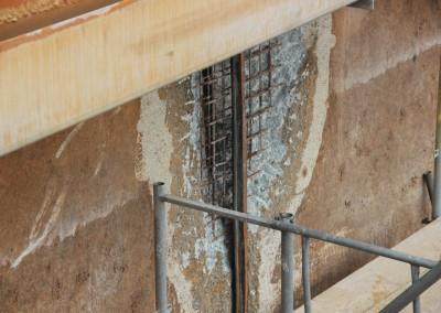 Betonkorrosion in Folge defekter Fugenabdichtung